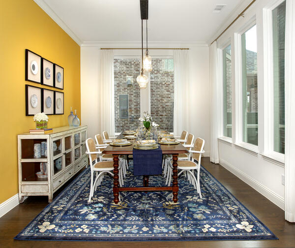 Bold Yellow Accent Wall