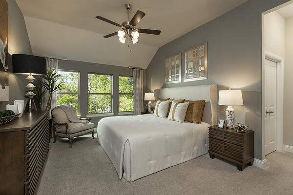 Soft Paint Hue in Master Bedroom