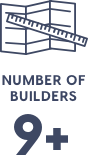 Number of Builders graphic